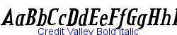 Credit Valley Bold Italic - Bold weight   94K (2004-12-18)