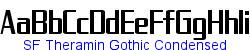 SF Theramin Gothic Condensed  137K (2004-08-15)