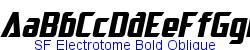 SF Electrotome Bold Oblique - Bold weight  159K (2003-06-15)